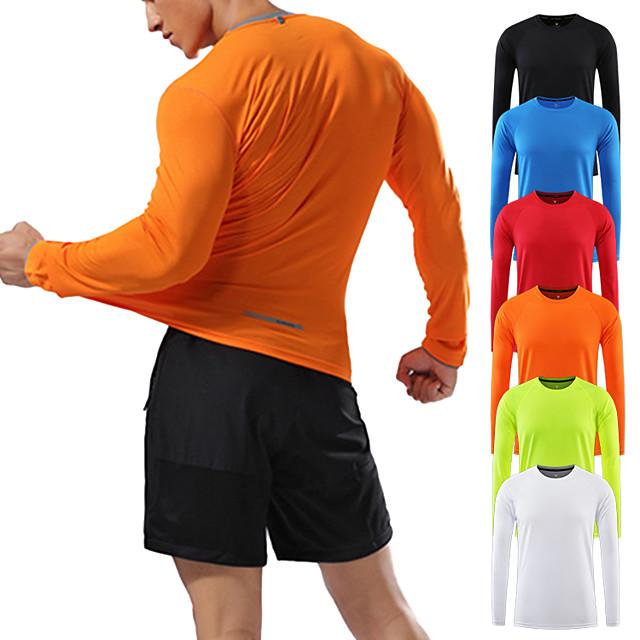 남성용 upf 50+ uv 자외선 차단 티셔츠 흰색 긴 소매 선 셔츠 성능 속건 티 (순백색 m)