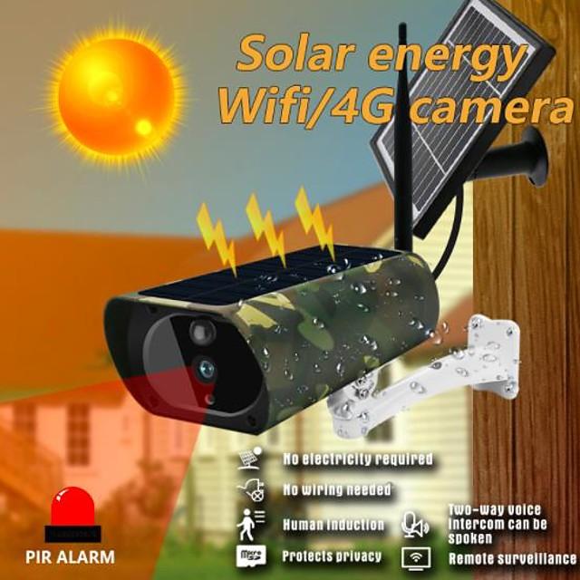 caméra solaire wifi 4g 1080p hd caméra wifi solaire caméra de sécurité extérieure sans fil caméra de surveillance camouflage