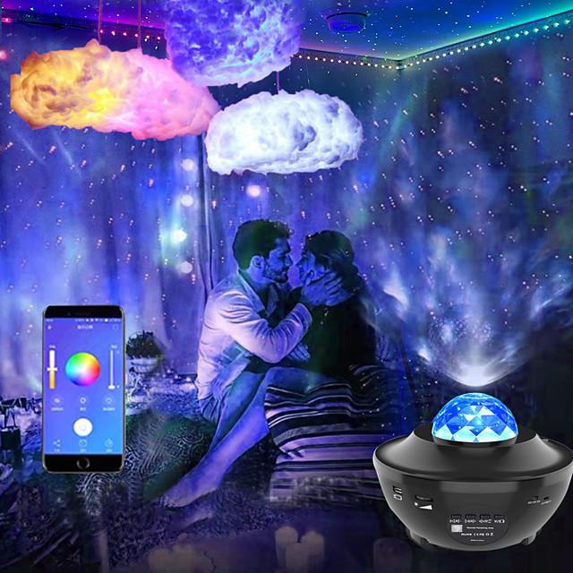 luci di striscia led sincronizzazione musicale 2x7.5m con cielo stellato proiettore luce sogno nuvola soffitto lampada a sospensione combinazione 50ft colore che cambia 5050 rgb strisce luminose led app bluetooth integrata controllata