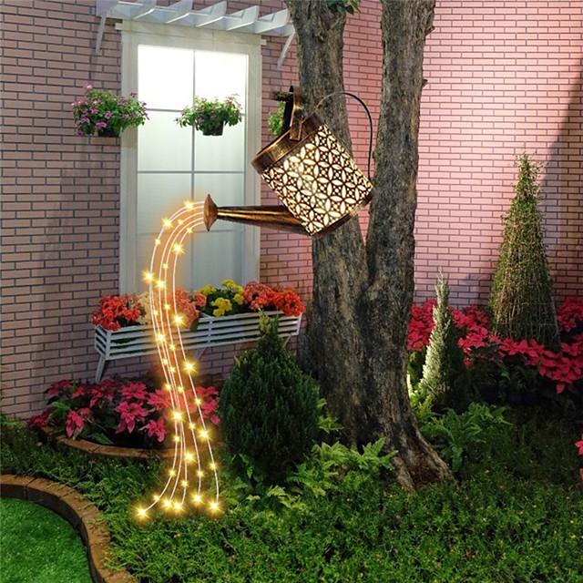 태양 야외 조명 led 정원 파티오 램프 방수 주전자 모양의 led 요정 빛 잔디 램프 정원 장식 풍경 마당 잔디 울타리 조명