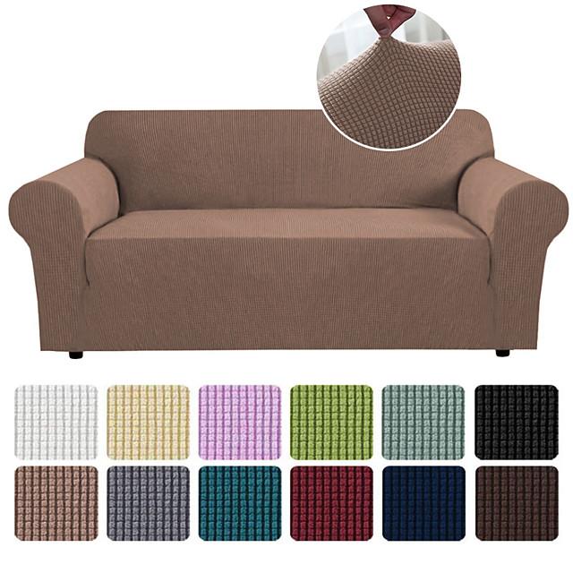 Housse de canapé extensible en tissu super doux avec une taie d'oreiller gratuite chaise / causeuse / 3 sièges / 4 sièges