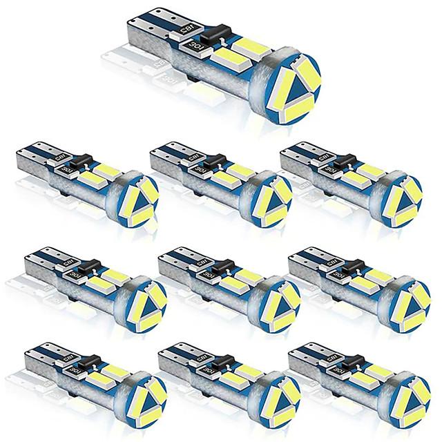 10 stks t5 w3w w1.2w 70 73 74 79 85 super heldere 4014 led auto dashboard opwarming indicator wedge gloeilamp auto instrument lamp dc12v