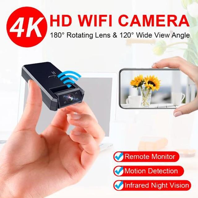 4k mini câmera wi-fi camcorder sem fio inteligente ip hotspot hd vídeo de visão noturna detecção de movimento de micro câmera pequena