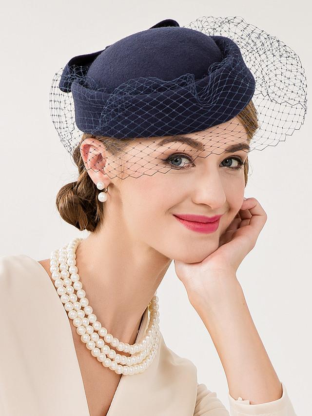 Laine / Filet Chapeau Kentucky Derby / Fascinateurs / Chapeaux avec Fleur 1 pc Mariage / Occasion spéciale / Décontracté Casque