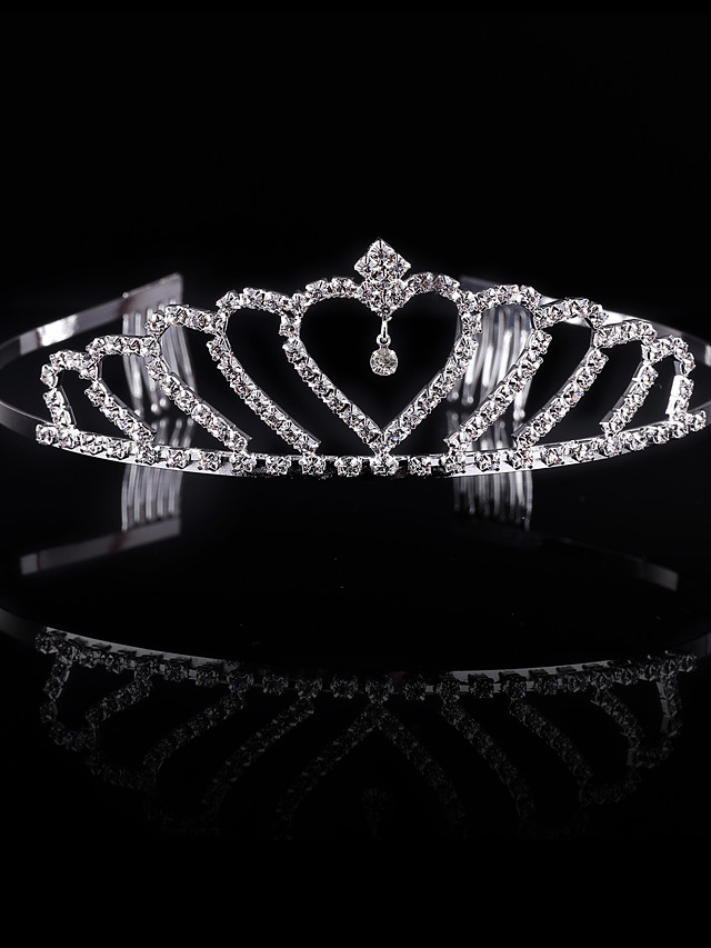Crystal / Rhinestone / Alloy Tiaras / Headwear with Floral 1pc Wedding / Special Occasion / Party / Evening Headpiece