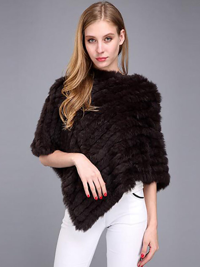 Capelets / Ponchos Faux Fur Wedding / Party / Evening Women's Wrap With