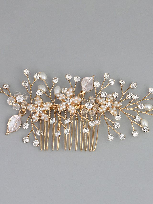 Imitation Pearl / Rhinestone / Alloy Hair Combs with Rhinestone / Crystal / Faux Pearl 1pc Wedding / Special Occasion Headpiece