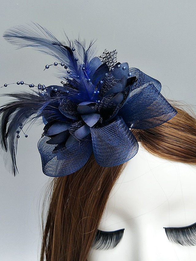 Feather / Net Fascinators / Flowers / Hats with Feathers / Fur / Floral 1pc Wedding / Special Occasion / Horse Race Headpiece