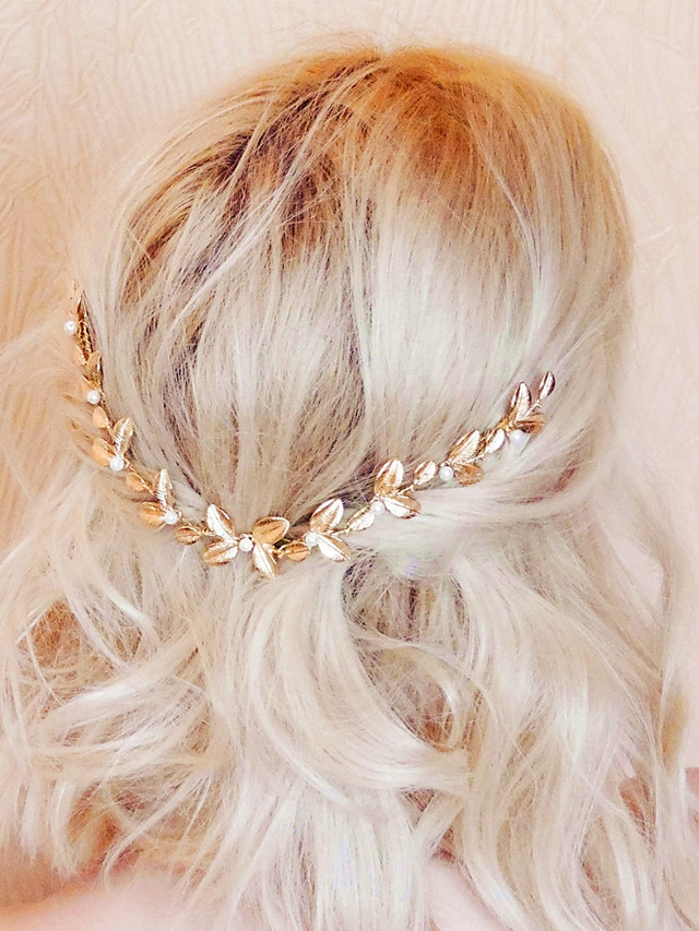 Alloy Hair Combs with Imitation Pearl 1pc Wedding / Party / Evening Headpiece