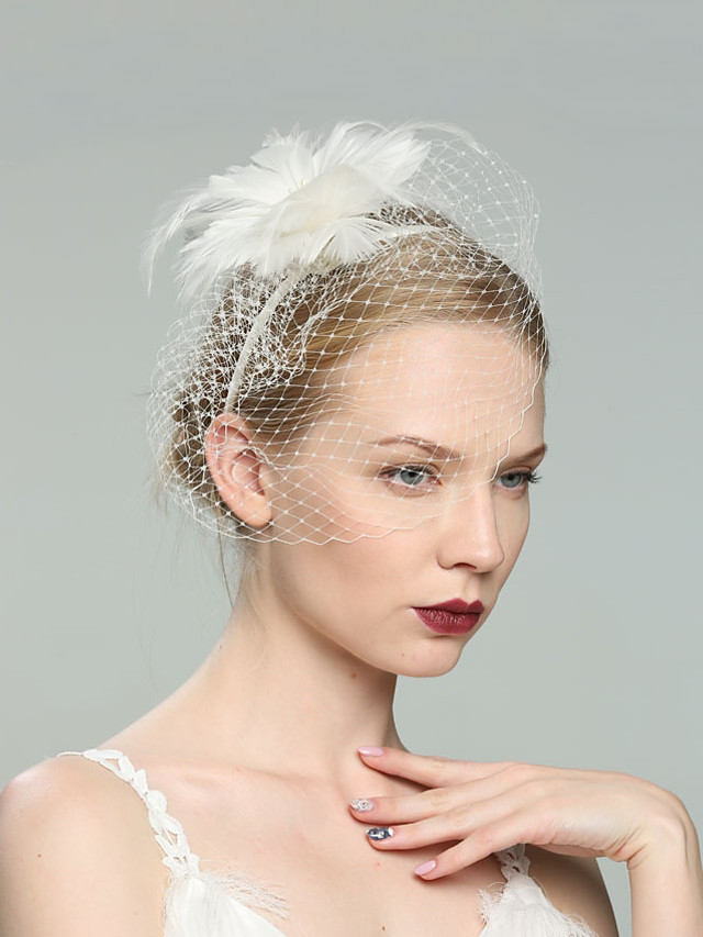 Feathers Fascinators with Feather 1pc Wedding / Special Occasion / Horse Race Headpiece