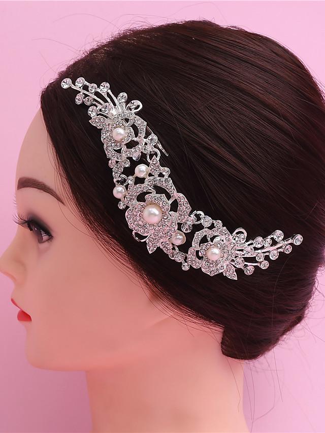 Alliage Peignes / Outil de cheveux avec Cristal / strass 1 Pièce Mariage / Occasion spéciale Casque