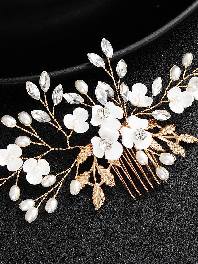 Alliage Bâton de cheveux avec Perle fausse / Détail Cristal 1 Pièce Mariage / Occasion spéciale Casque
