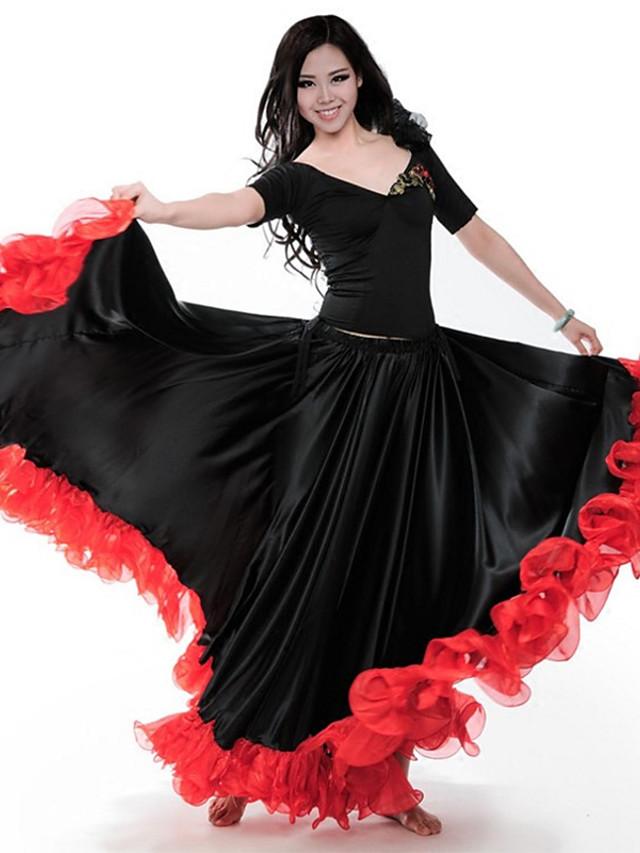 Danse latine Jupes Ruché Combinaison Femme Utilisation Taille basse Spandex