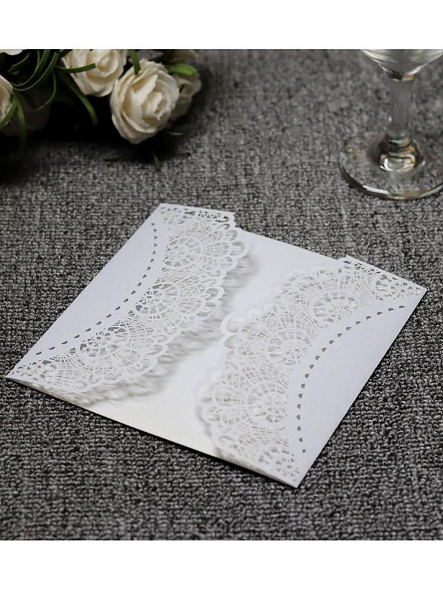 Pli Parallèle Vertical Faire-part mariage 20 - Cartes d'invitation Style artistique Papier pur