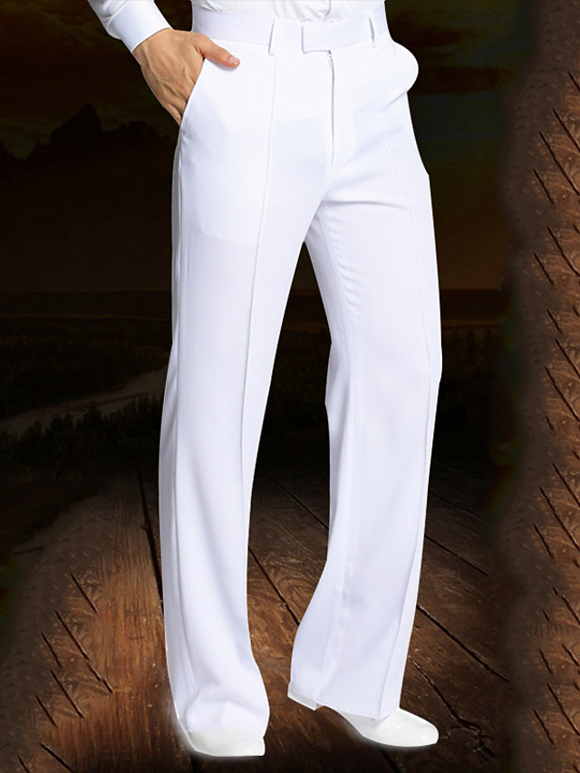 Danse latine Pantalon Ruché Homme Utilisation Taille moyenne Spandex