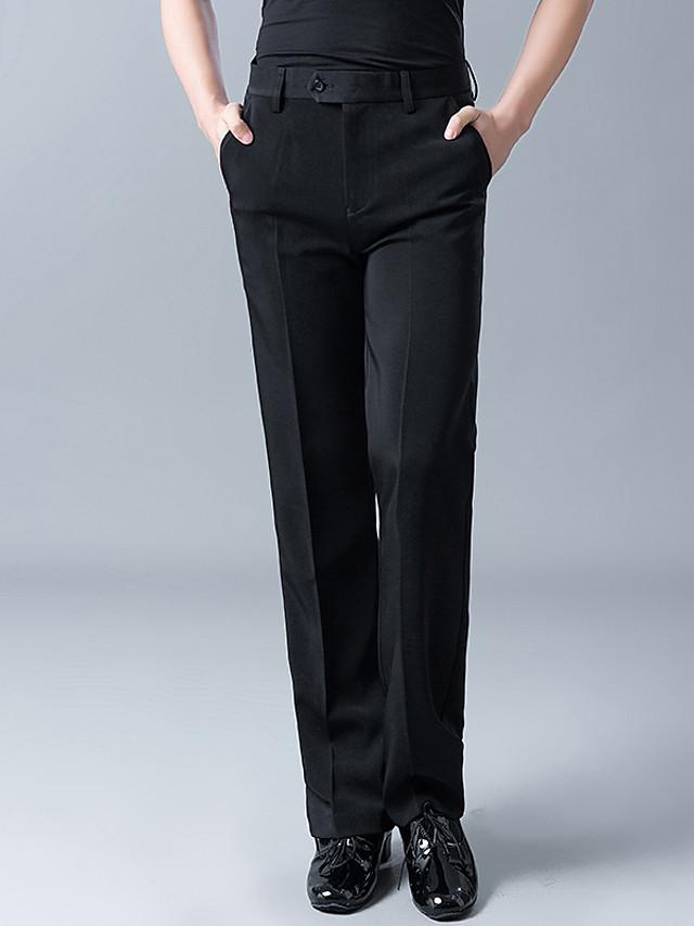 Danse latine Pantalon Ruché Homme Entraînement Utilisation Taille haute Polyester Coton