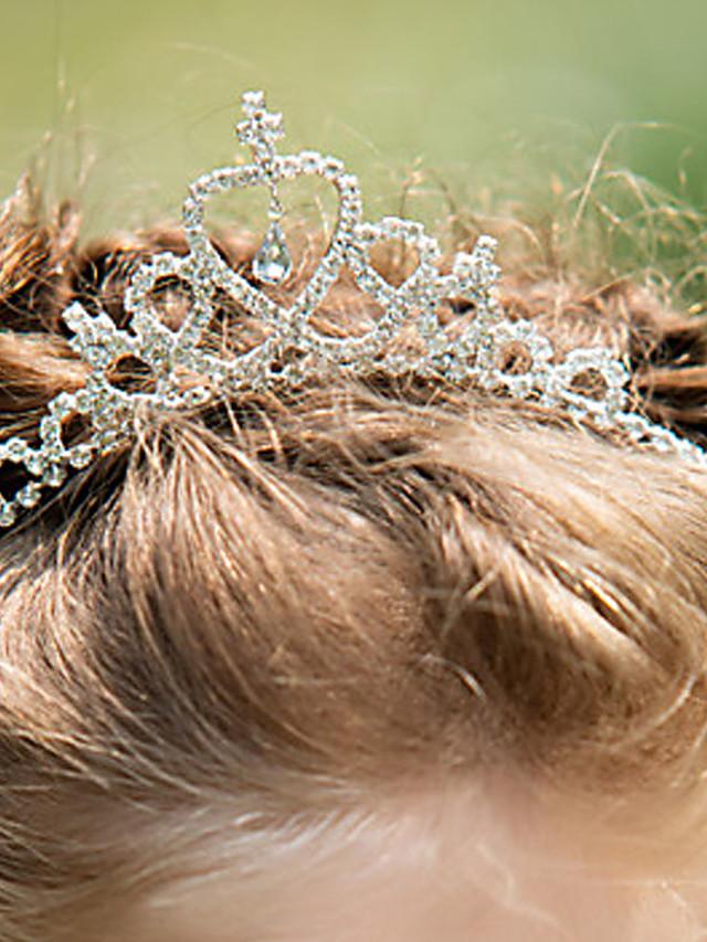 라인석 / 합금 머리띠 와 크리스탈 1개 결혼식 투구