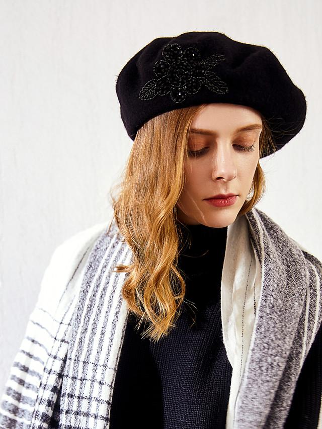 100% 울 모자 와 패턴 1 개 캐쥬얼 / 일상복 투구