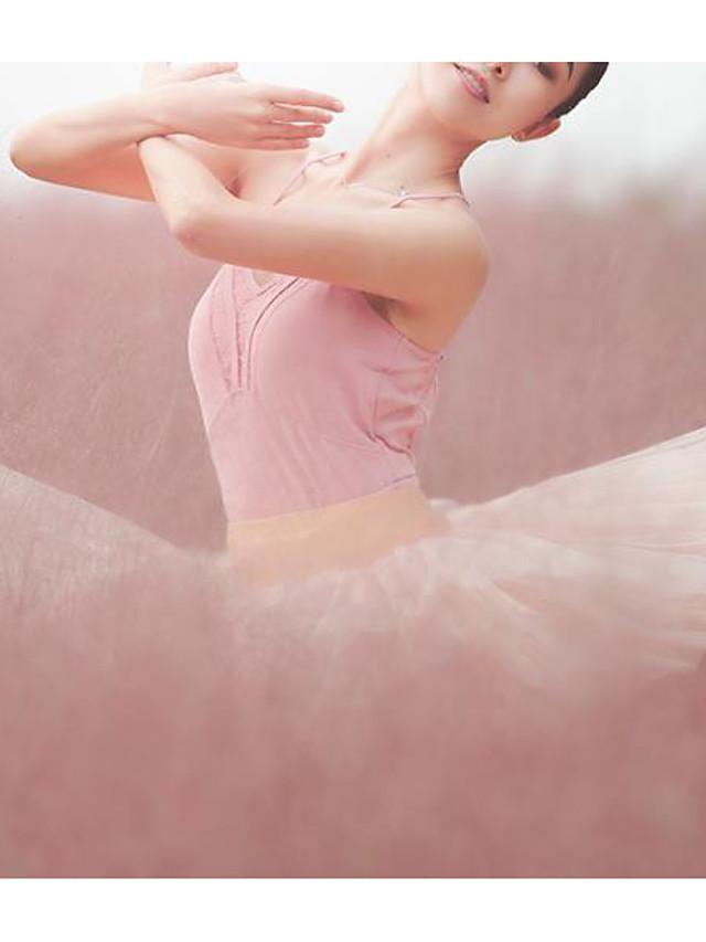 Ballet Turnpakje / Onesie Kant Verband Dames Opleiding Prestatie Mouwloos Natuurlijk Modaal