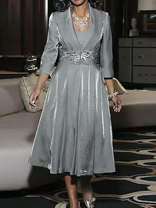 A-Linie Mutter der Braut Kleid elegante Vintage Plus Size ...