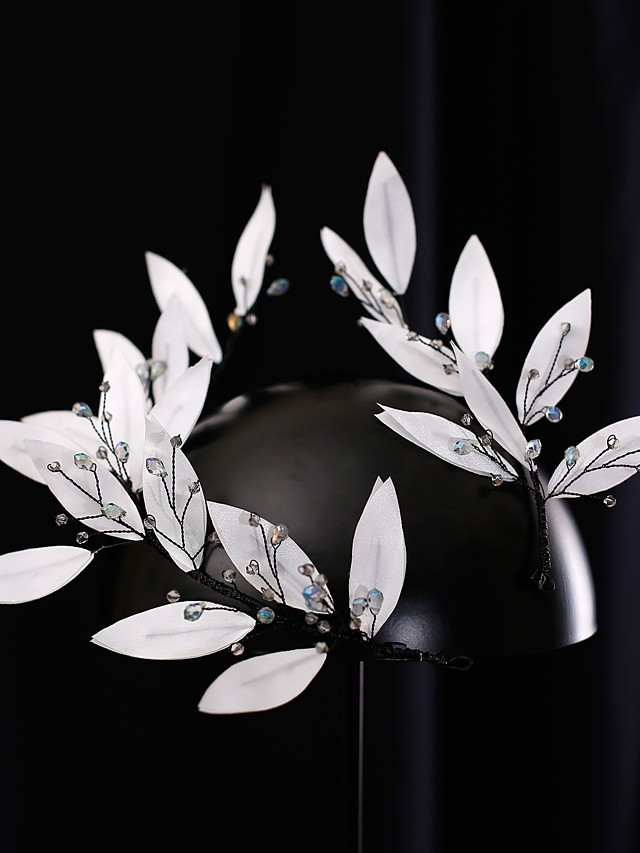 Elegant Bridal Rustless Iron Headdress with Rhinestone 1 Piece Wedding / Special Occasion Headpiece