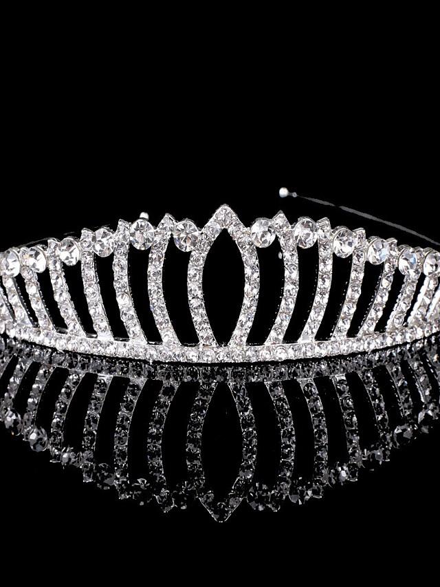 Princess Cute Rhinestone / Alloy Headpiece with Crystals 1 Piece Special Occasion / Birthday Headpiece