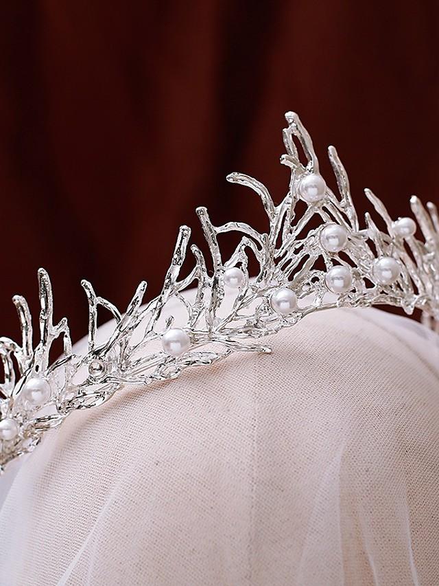 الزفاف زفافي لؤلؤ تقليدي / سبيكة غطاء للرأس مع لؤلؤ تقليد 1 قطعة زفاف / مناسبة خاصة خوذة
