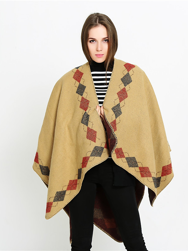 Sleeveless Ladies / Shawls Imitation Cashmere Special Occasion / Formal Shawl & Wrap / Women's Wrap With Plaid