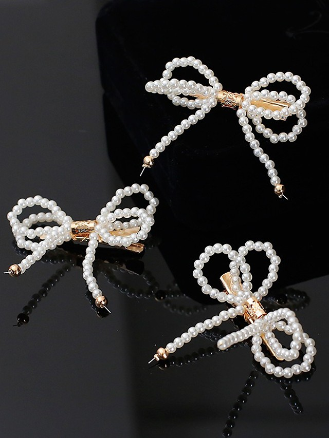 Bridal Cute Imitation Pearl / Rhinestone / Alloy Headdress with Imitation Pearl 1 set Wedding / Special Occasion Headpiece