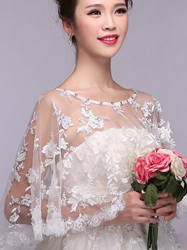 Sleeveless Shawls Lace Wedding / Party / Evening Shawl & Wrap / Women's Wrap With Beading