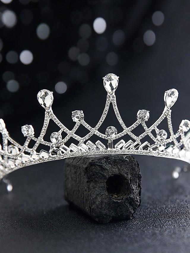 Princess Cute Alloy Tiaras with Crystals / Rhinestones 1 Piece Wedding / Special Occasion Headpiece