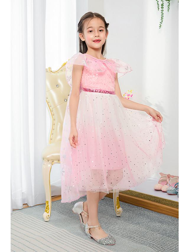 أميرة طول الساق مناسبة / حفلة / مناسب للعطلات فساتين فتاة الزهرة - تول كم قصير جوهرة مع كشاكش / شىء صغير براق