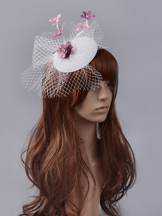 Elegant & Luxurious Retro Tulle Fascinators with Hollow-out / Flower 1 Piece Special Occasion / Party / Evening Headpiece