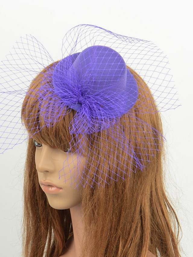 Elegant Retro Tulle Fascinators with Bowknot / Solid 1 Piece Special Occasion / Party / Evening Headpiece