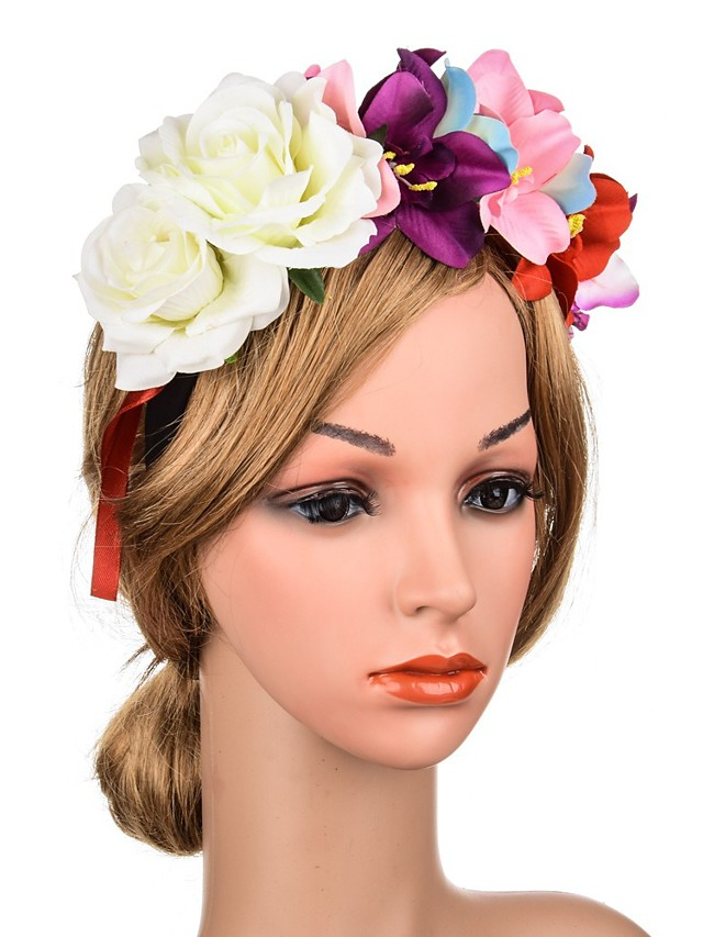 Flower Style Romantic Fabric Headpiece with Floral 1 Piece Special Occasion / Party / Evening Headpiece
