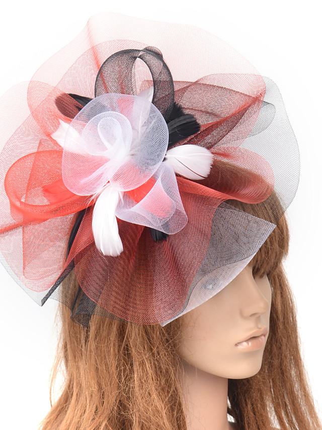 Elegant Retro Tulle Fascinators with Flower / Split Joint 1 Piece Special Occasion / Party / Evening Headpiece