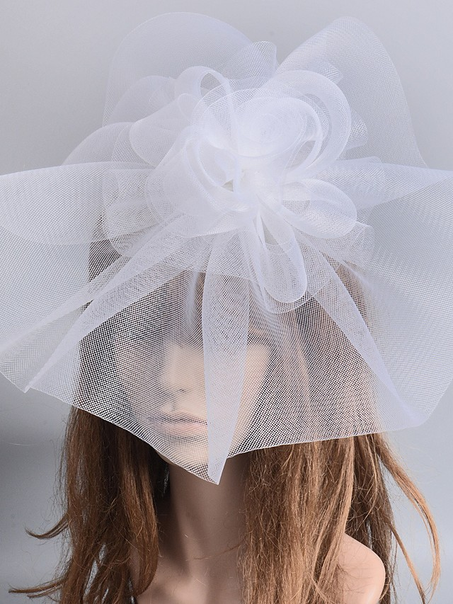 1920s Retro Tulle Headpiece with Floral 1 Piece Special Occasion / Party / Evening Headpiece