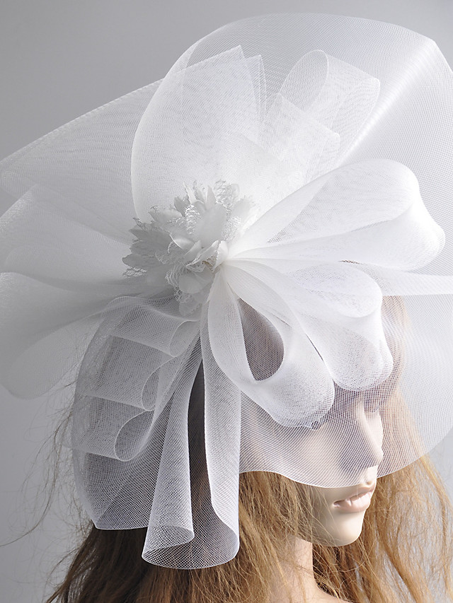 1920s Retro Tulle Fascinators with Floral 1 Piece Special Occasion / Party / Evening Headpiece