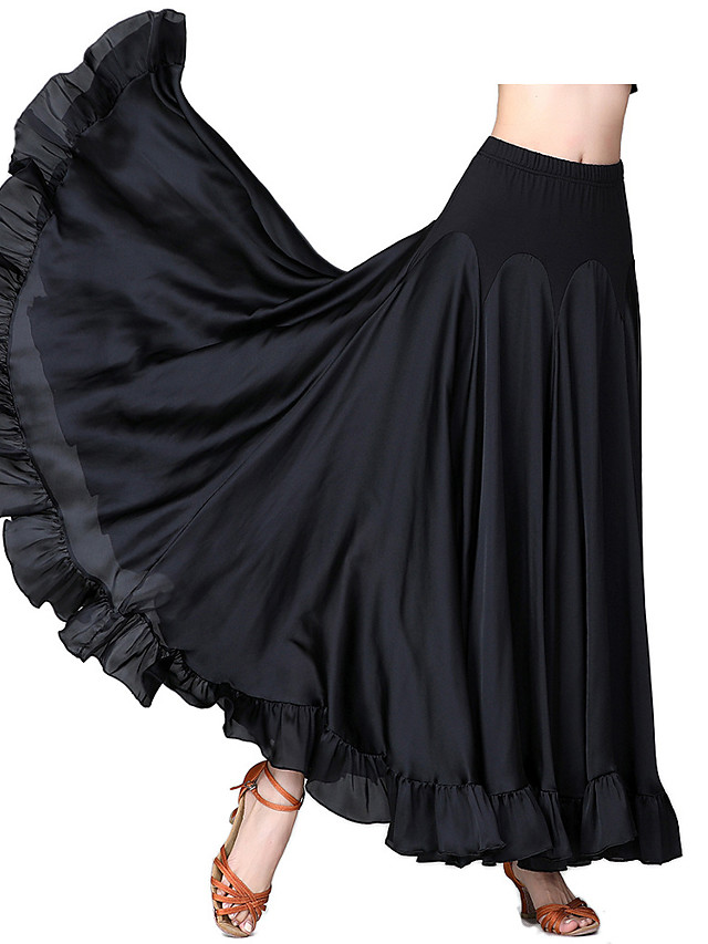Ballroom Dance Dance Costumes Skirts Solid Women's Performance Daily Wear POLY Polyster