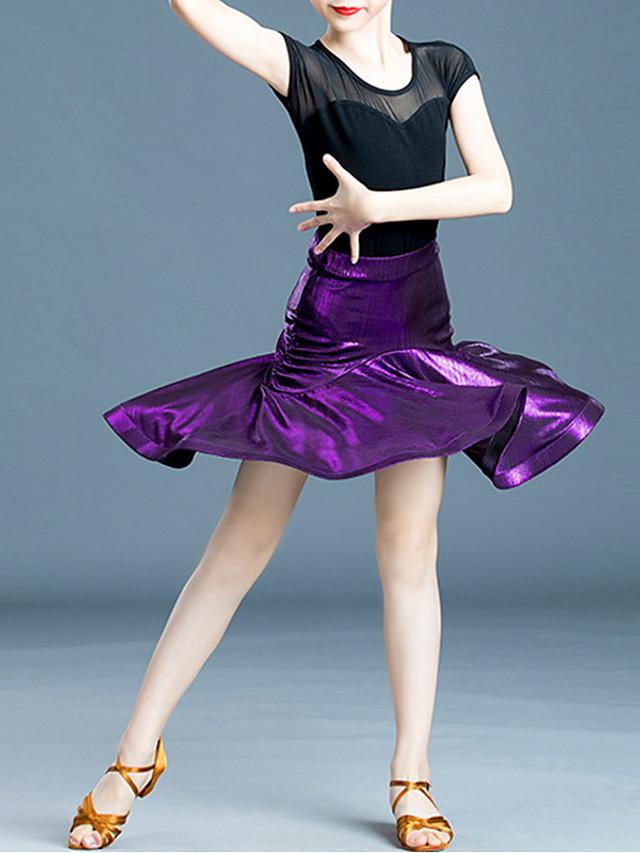 الرقص اللاتيني تنانير كشاكش مفصل منفصل للفتيات التدريب أداء حمالات ارتفاع عال قطن
