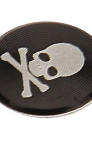 autocollant de bouton à la maison noir en alliage imprimé de crâne pour iphone / ipad / ipod