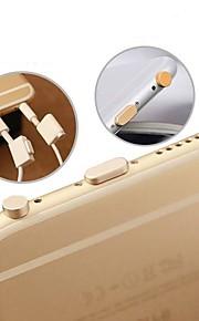 prise d'écouteur& port de charge bouchon anti-poussière réglé pour iphone 6 / iphone 6 plus / ipad air2 / ipad mini3