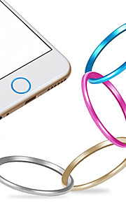 de haute qualité anneau de recouvrement de bouton d'accueil de métal protecteur cercle pour iphone 6/6 plus / 5s / ipad air 2 / ipad mini-