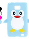 """Miekkie,Silikonowe Etui Ochronne dla Samsung Galaxy S2 I9100  """"Pingwin"""" (Różne Kolory)"""