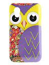 fioletowy wzór sowa twarde etui do Samsung Galaxy Ace S5830