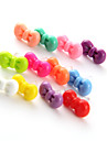 טהור צבע bowknot פלסטיק נגד אבק יציאת אוזניות (Ramdon צבע)