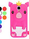 Piękny Pig Cartoon z koroną pokrowiec Samsung Galaxy S4 I9500 (różne kolory)