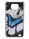 Wzór twarda Butterfly Case z Rhinestone do Samsung Galaxy S2 i9100