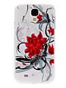 Czerwone kwiaty wzór Hard Case do Samsung Galaxy S4 I9500