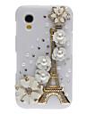 Bling Bling Noble Eiffel i kwiat projektu twarde etui z Rhinestone dla Samsung Galaxy Ace S5830